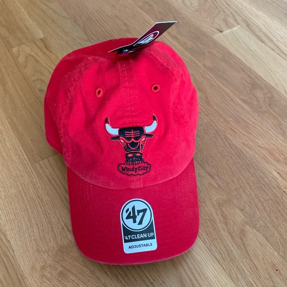 new arrival a8191 70577  47 Brand Chicago Bulls Clean Up Hat